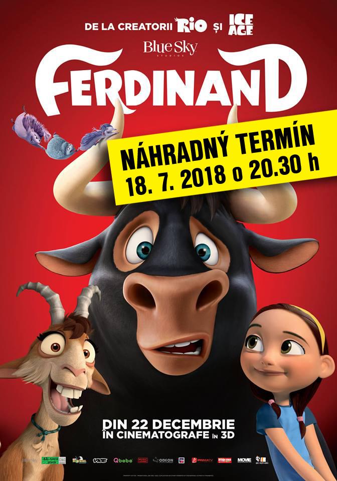 4871daad1 Z dôvodu nepriaznivého počasia sa dnešné letné kino ruší. Premietanie  animovanej rozprávky Ferdinard sa prekladá na stredu 18. 7. 2018 so  začiatkom o 20.30 ...
