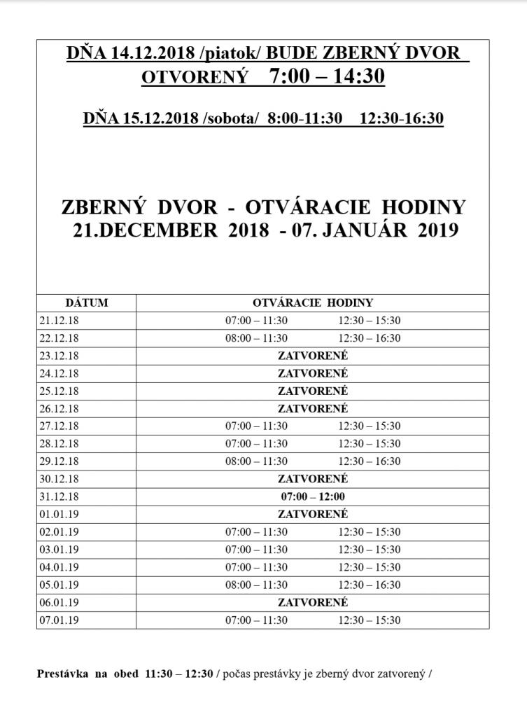 05d7b3ba58aaa Oznamujeme občanom, že Zberný dvor na Mierovej ulici v Stupave bude v  piatok 14.12.2018 otvorený od 7.00 do 14.30 hod. Ostatné otváracie hodiny  medzi ...